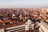 ITALY, Venice. A view of Venice from St. Mark's Campanile, the bell tower at St. Mark's Square.
