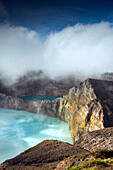 INDONESIA, Flores, the highest viewpoint in Kelimutu National Park and volcano, with views of Tiwu Ata Polo and Tiwu Nuwa Muri Koo Fai volcanic lakes