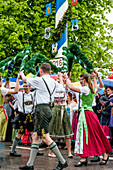 bavarian music, dancing, maypole, bavarian tradition, Bavaria, Germany, Europe