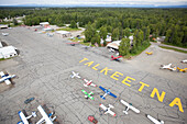 Aerial View Of The Talkeetna Airport, Southcentral Alaska, USA