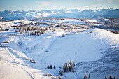 Aerial View Of Ohlson Mountain Rope Tow Ski Area, Homer, Southcentral Alaska, USA
