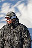 Portrait Of A Snowboarder, Homer, Southcentral Alaska, USA