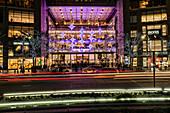 Time Warner Center Christmas Decorations, Columbus Circle; New York City, New York, United States Of America