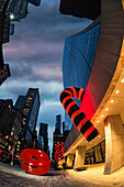 Christmas Decorations In Mid-Town Manhattan, 9 West 57th Street; New York City, New York, United States Of America