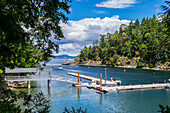 Boat Tours Run In And Out Of Butchart Cove, Vancouver Island; Victoria, British Columbia, Canada