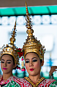 Young Women At A Traditional Dance; Bangkok, Thailand