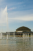 Centennial Hall With Multimedia Fountain; Wroclaw, Lower Silesia, Poland