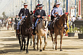 Riders In The May Horse Fair; Jerez De La Frontera, Cadiz, Andalusia, Spain