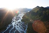 Landscape Of Kenai Mountains At Sunset, Kachemak Bay State Park; Alaska, United States Of America