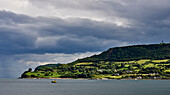 Lush, Green Landscape Along The Atlantic Coast; Carnlough, County Antrim, Ireland