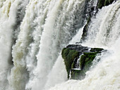 Close-Up Of Falling Water At Iguazu Falls, Iguazu National Park; Argentina