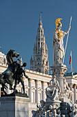 Parliament, Pallas Athena statue, 1. District of the inner city, Vienna, Austria