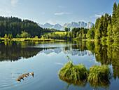 Weiher, Kitzbühel, Wilder Kaiser, Tirol, Austria