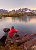 Walker, Mother Berger Lake, Wilder Freiger, ZUCKERHÜTL, blade tip, Stubai Alps, Tyrol, Austria