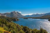 Beautiful natural scenery of Nahuel Huapi lake, Bariloche, Patagonia, Argentina