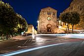 Long exposure in front of San Fortunato church in Perugia, Perugia, Umbria, Italy Europe