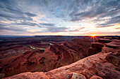 Sunset at Dead Horse Point State Park, Moab; Utah; Usa