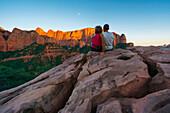 Sunset at Kolob Canyons, Zion National Park, Springdale, Utah, Usa