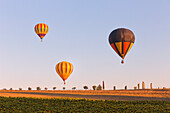 Europe,Italy,Umbria,Perugia district,Gualdo Cattaneo, Hot-air balloons