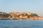Tropea, Province of Vibo Valentia, Calabria, Italy, Tropea seen from Tyrrhenian Sea