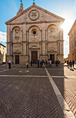 Pienza, Orcia Valley,Siena district, Tuscany, Italy,Europe, Piazza Pio II with Cathedral of Santa Maria Assunta
