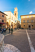 Pienza, Orcia Valley,Siena district, Tuscany, Italy,Europe, Piazza Pio II