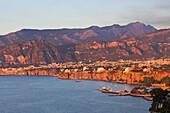 Summer sunset on Sorrento, Amalfi Coast, Naples province, Campania, Italy, Europe