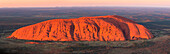 Uluru, Red Center, Northern Territory, Central Australia, Panoramic view from above