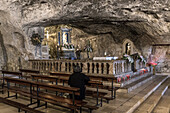 The Cave of San Michele Sanctuary, Monte Sant'Angelo village, Foggia district, Apulia, Italy UNESCO World Eritage