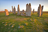 Standing stones erected in the late Neolithic,Callanish,Isle of Lewis, western scotland,United Kingdom