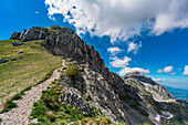 Pizzo Cefalone pathway, Campo Imperatore, L'Aquila province, Abruzzo, Italy, Europe