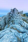 Starigrad fortress (Fortica) above the city of Omis, Dalmatia, Adriatic Coast, Croatia