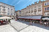 Narodni trg aka Pjaca square in Split old town, Dalmatia, Croatia