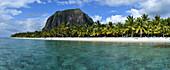 Panoramic view of le Morne beach, Mauritius,(Mauritian)