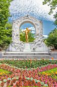Vienna, Austria, Europe, The Johann Strauss Monument in the Vienna City Park