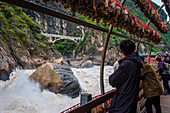 Tourists at Tiger Leaping Gorge, Lijiang, Yunnan Province, China, Asia, Asian, East Asia, Far East