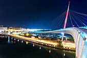 The bridge of Renzo Piano in Pescara Europe, Italy, Abruzzo, Pescara
