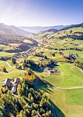Santa Magdalena village, Funes Valley, Puez Odle Natural Park, South Tyrol, Italy