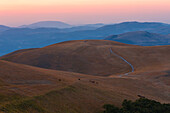 Europe,Italy,Umbria,Perugia district,Central Appennines at sunset