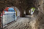 Ancient passage to Ponte della Civera, Nesso, lake Como, Como province, Lombardy, Italy, Europe