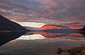 Santa Croce Lake, Alpago, Belluno Prealps, Veneto, Italy