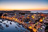 Procida, La Corricella Harbour, Campania, Italy