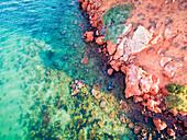 Seascape, Western Australia, Aerial view