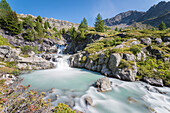 Waterfall, La Thuile Valley, Aosta Valley, Italy, Italian alps
