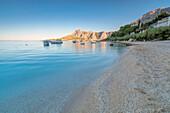 Beach in Omis, Dalmatia, Adriatic Coast, Croatia