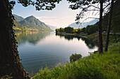 Landscape of Idro lake, Brescia province in Italy, Lombardy district, Europe