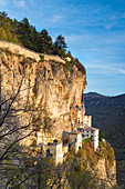 Sanctuary Madonna della Corona in autumn Europe, Italy, Veneto, Verona district, Spiazzi