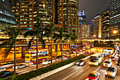 Rush hour traffic in Central, Hong Kong Island, Hong Kong, China, Asia