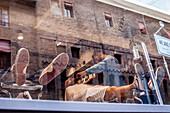 Barber at work, Bologna, Emilia-Romagna, Italy, Europe