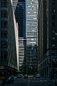 light and shadow of urban jungle in Manhattan, NYC, New York City, United States of America, USA, North America